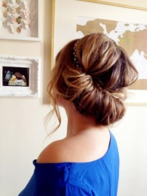 Create an enchanting updo on the run with just a headband